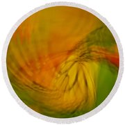 Monarch Abstract Round Beach Towel