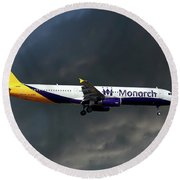 Monarch Airlines Airbus A321-231 Round Beach Towel