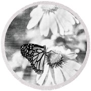 Monarch Butterfly Art 2 Round Beach Towel