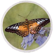 Clipper Butterfly Round Beach Towel