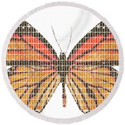 Monarch Round Beach Towel