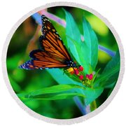 Monarch Heaven Round Beach Towel