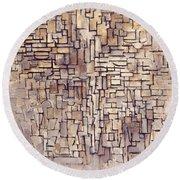 Mondrian: Composition, 1913 Round Beach Towel