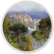 Monet: Bordighera, 1884 Round Beach Towel