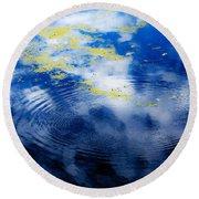 Monet Like Water Round Beach Towel