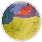 Monhegan Light Round Beach Towel