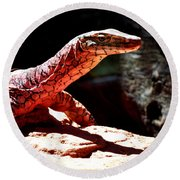 Monitor Lizard Round Beach Towel