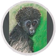 Monkey Business Round Beach Towel