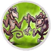 Monkey Dance Round Beach Towel