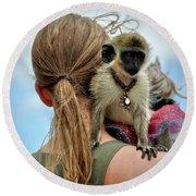 Monkeying Around Round Beach Towel