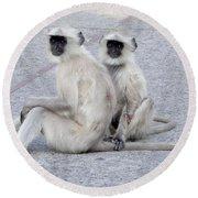 Monkeys Round Beach Towel