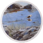 Mono Lake Round Beach Towel