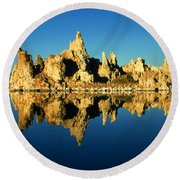 Mono Lake California Sunset - Landscape Round Beach Towel