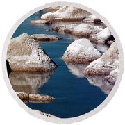 Mono Lake Tufa Round Beach Towel