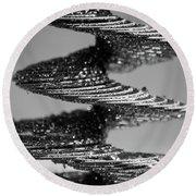 Monochrome Spiral Round Beach Towel