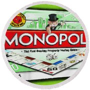Monopoly Board Game Painting Round Beach Towel