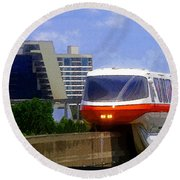 Monorail Round Beach Towel