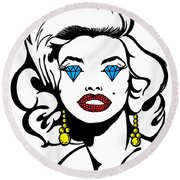 Monroe Round Beach Towel