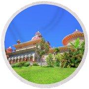 Monserrate Palace Sintra Round Beach Towel