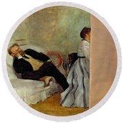 Monsieur And Madame Edouard Manet Round Beach Towel