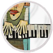 Monsieur Keys Round Beach Towel
