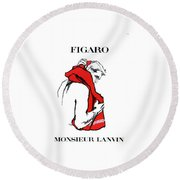 Monsieur Round Beach Towel