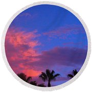 Monsoon Sunset Round Beach Towel by James BO  Insogna