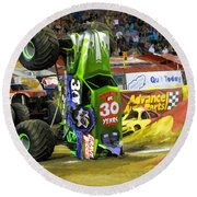 Monster Jam 2 Round Beach Towel