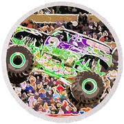 Monster Jam Orlando Fl Round Beach Towel