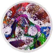 Monster Party Round Beach Towel