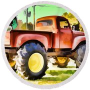 Monster Truck - Grave Digger 1 Round Beach Towel
