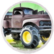 Monster Truck - Grave Digger 3 Round Beach Towel