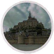 Mont Saint Michel 1 Round Beach Towel