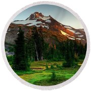 Montain Round Beach Towel