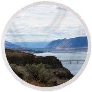 Montana Bridge Round Beach Towel