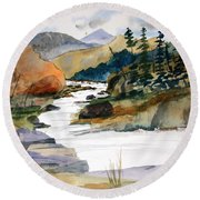Montana Canyon Round Beach Towel