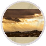 Montana Gold Round Beach Towel