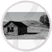 Montana Homestead Round Beach Towel