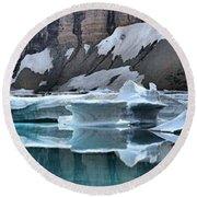 Montana Icebergs Round Beach Towel