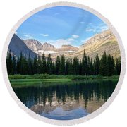 Montana Morning Round Beach Towel