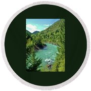 Montana River Round Beach Towel