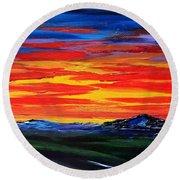 Montana Sunset Colors                     72 Round Beach Towel