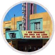 Miles City Montana - Theater Round Beach Towel