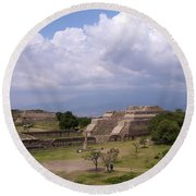 Monte Alban 2 Round Beach Towel