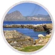 Monte Cofano - Sicily Round Beach Towel