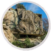 Monte Moro Bunkers - Bunkers Monte Moro Round Beach Towel