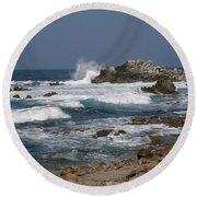 Monterey Coastline Round Beach Towel