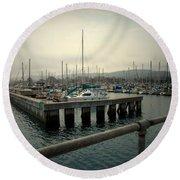 Monterey Marina Round Beach Towel