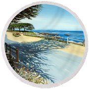 Monterey Shadows Round Beach Towel