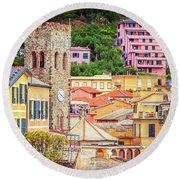 Monterosso Al Mare Cinque Terre Italy Round Beach Towel